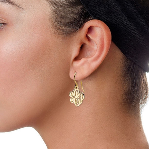 Picture of Monogrammed Earrings in 925 Sterling Silver