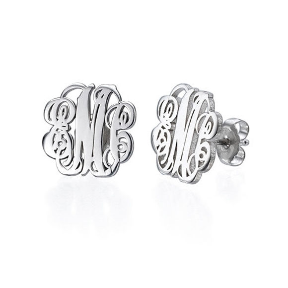 Immagine di Orecchini nominali personalizzati Regalo unico in argento 925