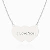 Picture of Heart To Hearts Photo Engraved Tag Necklace Silver