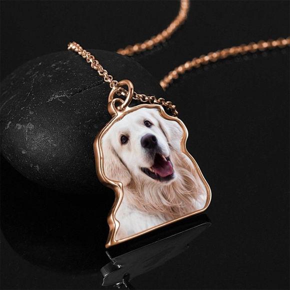 Image de Collier photo, collier cadeau parfait, argent plaqué platine