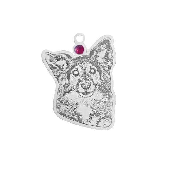 Imagen de Collar personalizado para mascotas de plata de ley 925 - Personaliza con tu adorable mascota