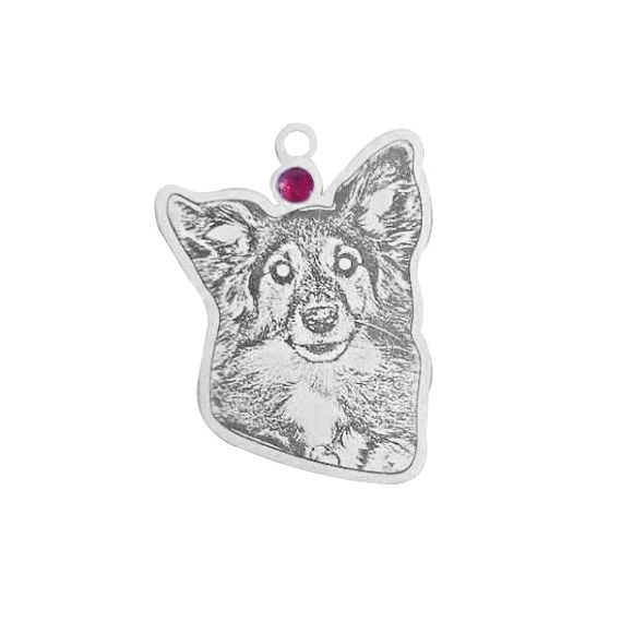Picture of 925 Sterling Silver Personalized Pet Necklace - Customize With Your Lovely Pet