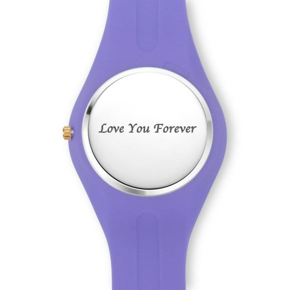 Picture of Women's Silicone Engraved Photo Watch in 3 Colors
