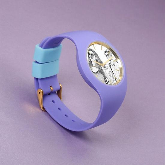 Immagine di Orologio fotografico inciso in silicone da donna in 3 colori