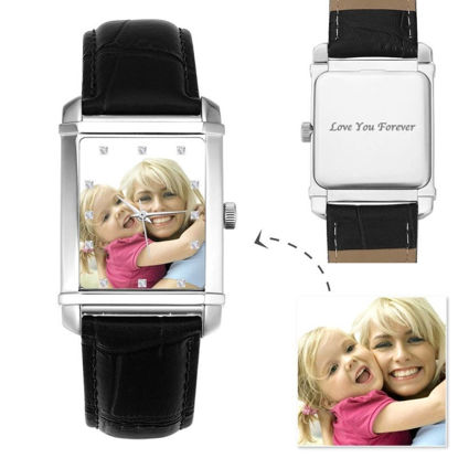 Imagen de Reloj fotográfico grabado personalizado para hombres