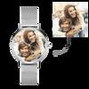 Bild von Benutzerdefinierte Frauen gravierte Legierung Armband Foto Uhr