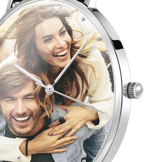 Imagen de Custom Women's Engraved Alloy Bracelet Photo Watch