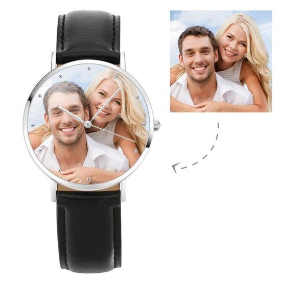 Immagine di Orologio fotografico inciso unisex personalizzato