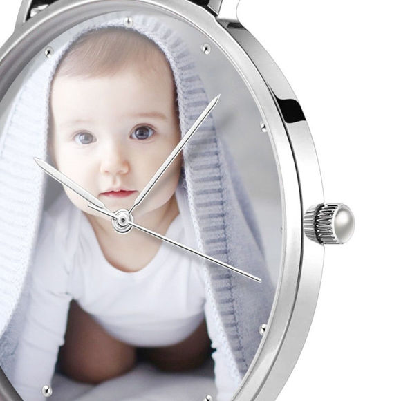 Imagen de Reloj fotográfico grabado unisex personalizado