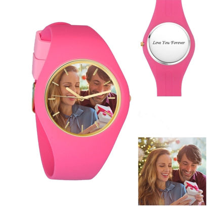 Imagen de Women's Silicone Engraved Photo Watch
