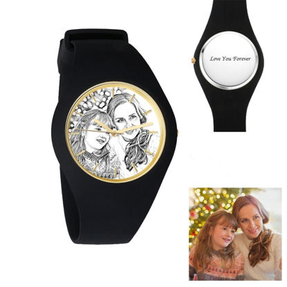 Imagen de Women's Silicone Engraved Photo Watch in 3 Colors