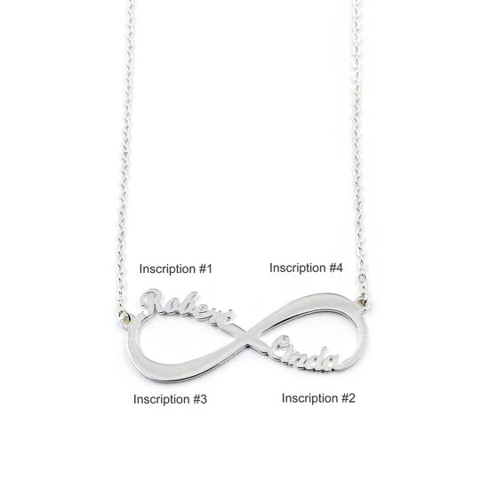 Imagen de Infinity Name Necklace in 925 Sterling Silver