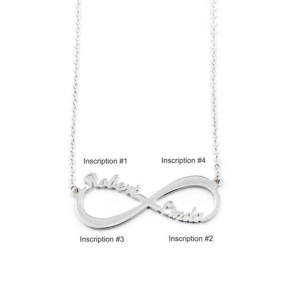 Imagen de Collar con nombre infinito en plata de ley 925