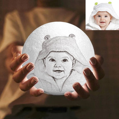 Picture of Magic 3D Personalized Photo Moon Lamp with Touch Control for Baby (10cm-20cm)