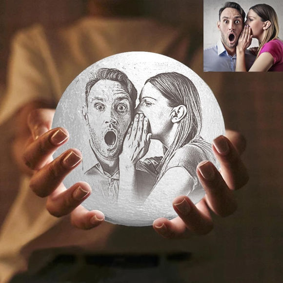 Lámpara De Luna Con Foto Personalizada Magic 3d Con Control Táctil Para Pareja 10cm 20cm Personalized Jewelry Gifts At Great Prices Justyling