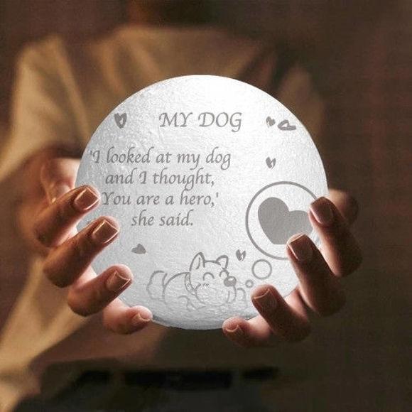 Imagen de Lámpara de luna 3D personalizada con control táctil Estilo lindo para mascotas (10cm-20cm)