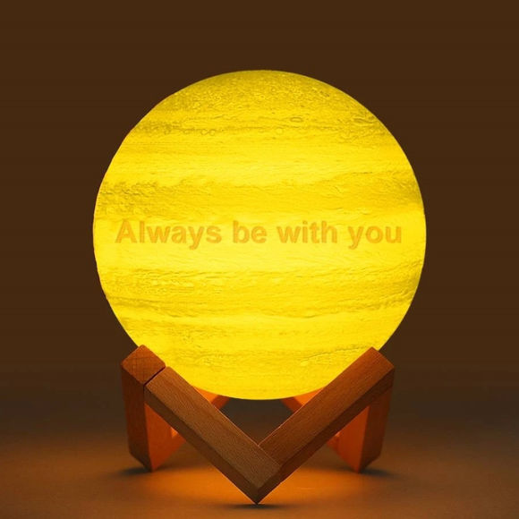 Picture of Magic 3D Personalized Photo Moon Lamp with Touch Control for Loving Couples (10cm-20cm)