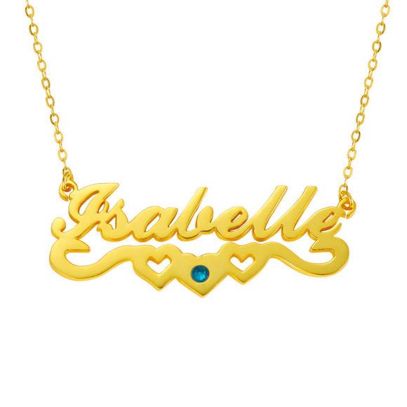 Imagen de Elegante collar con nombre personalizado en plata de ley 925