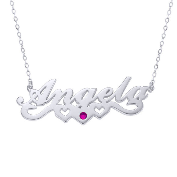 Picture of Stylish Personalized Name Necklace in 925 Sterling Silver