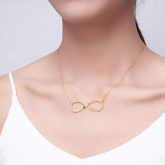 Imagen de Collar con nombre infinito en plata de ley 925 para parejas