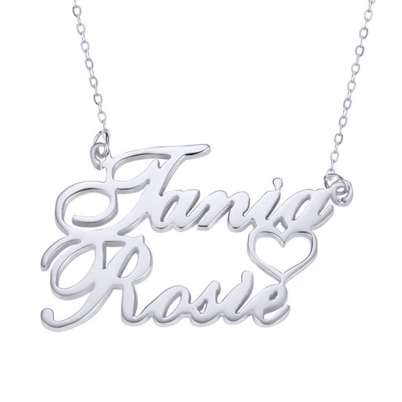 Bild von Personalized Two Line Name Necklace in 925 Sterling Silver