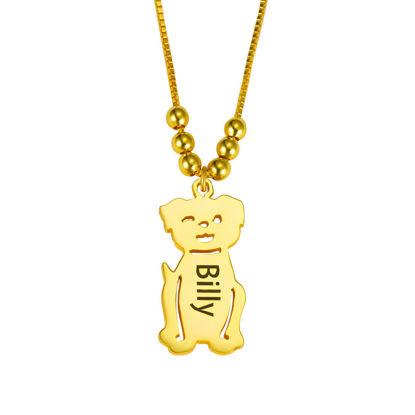 Image de Collier gravé avec collier de chien en argent sterling 925