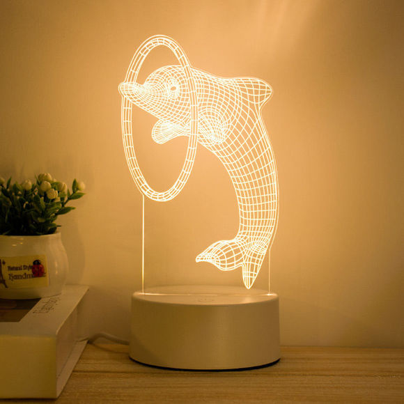Immagine di Luci notturne a LED 3D Illusion in varie forme