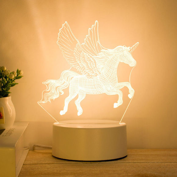 Picture of 3D Illusion LED Night Lights in Various Shapes