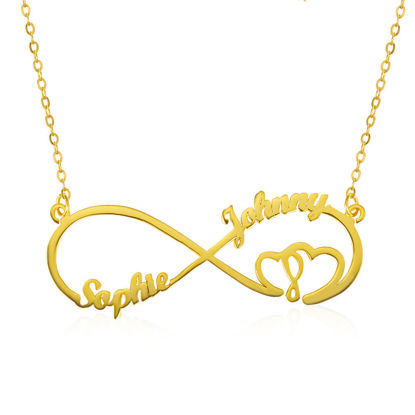 Immagine di Collana Infinity Heart In Heart 2 Names Sterling