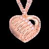 Bild von Gravierte Herzanhänger Family Birthstone Halskette für Mütter aus 925er Sterlingsilber