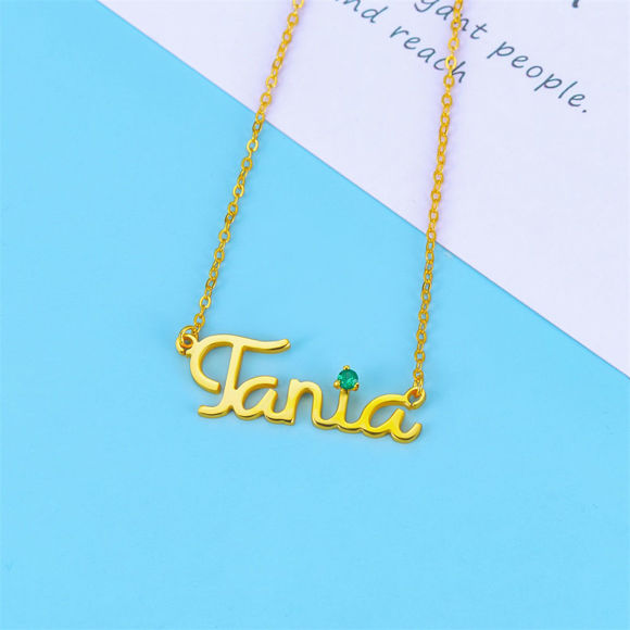 Picture of Personalized Cursive Name Necklace in 925 Sterling