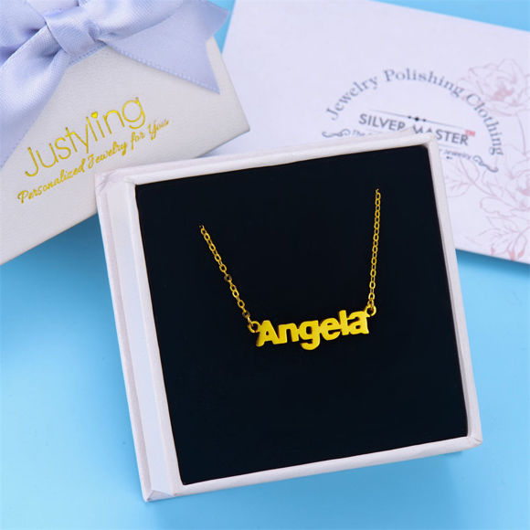 Picture of 925 Sterling Silver Personalized Name Necklace - Custom Any Name