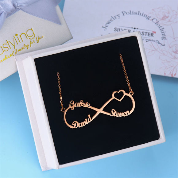 Picture of Infinity Sterling Silver Custom Made Any Name Pendant Necklace