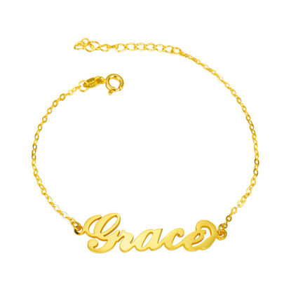 Picture of Personalized 925 Sterling Silver Name Bracelet - Customize with Any Name