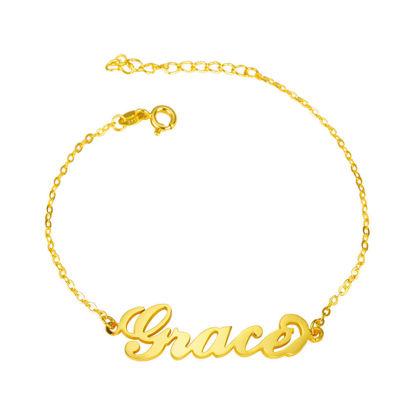 Image de Bracelet prénom en argent sterling 925 personnalisé - Personnaliser avec n'importe quel nom