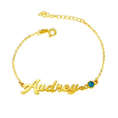 Picture of 925 Sterling Silver Personalized Name Bracelet