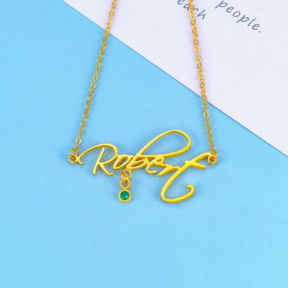 Picture of 925 Sterling Silver Nameplate Personalized Name Necklace