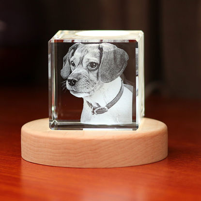 Picture of 3D Laser Crystal Gift in Cube