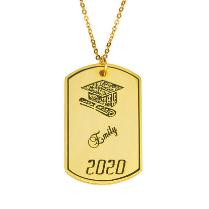 Image de Bijoux de Graduation - Collier Dog Tag