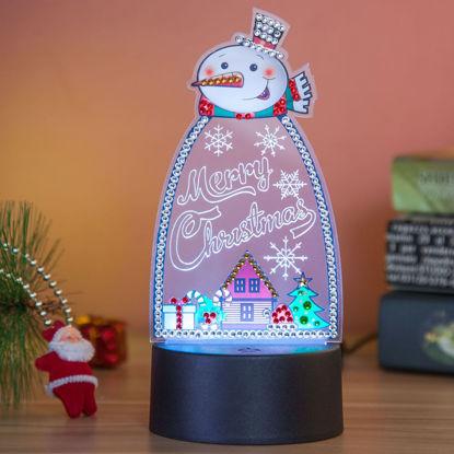 Bild von Weihnachts-Thema 3D LED Nachtlicht mit Diamanten verziert