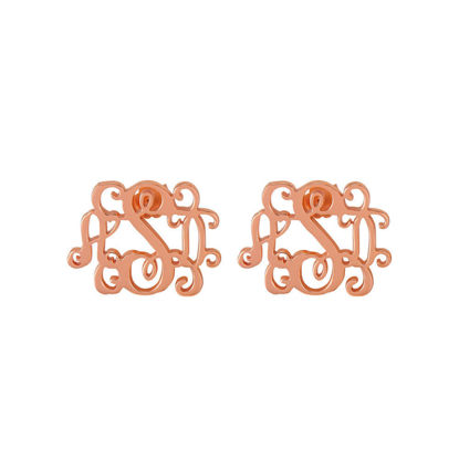 Picture of Monogram Stud Earrings in 925 Sterling Silver