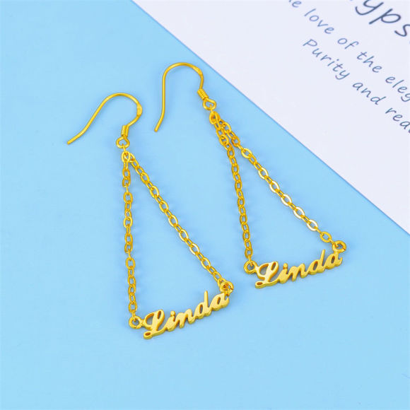 Picture of 925 Sterling Silver Personalized Name Earrings