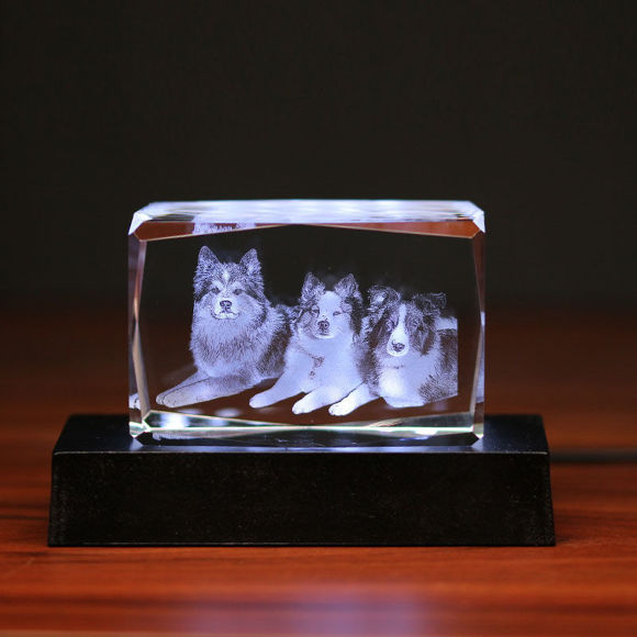 Imagen de Regalo de cristal láser 3D en paisaje