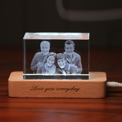 Picture of 3D Laser Crystal Gift in Landscape (Straight Line)