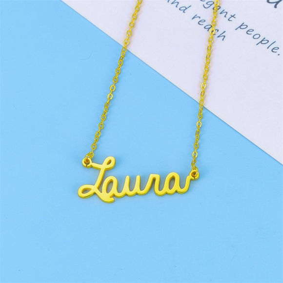 Picture of Simple 925 Sterling Silver Name Chain