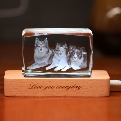 Picture of 3D Laser Crystal Gift in Landscape