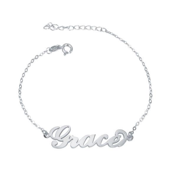 Imagen de Pulsera personalizada con nombre en plata de ley 925 - Personalizar con cualquier nombre