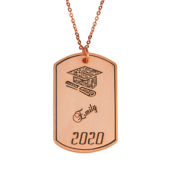 Picture of Graduation Jewelry - Dog Tag Necklace