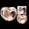 Immagine di Charm con foto incisa a cuore in argento sterling 925
