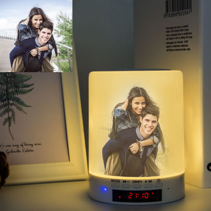 Imagen de Luz de audio Bluetooth personalizada con foto y texto